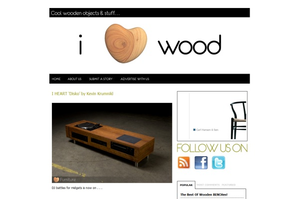 IHEARTWOOD – COOL WOODEN OBJECTS AND STUFFS » I HEART 'Disko' by Kevin Krumnikl